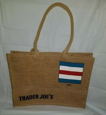 Trader Joe's Jute Tote Burlap Bag Reusable Limited Edition Eco Friendly Large