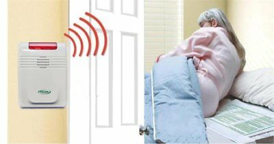 Wireless Cordfree Bed Alarm Pad Emergency Alert Warning Elderly Get Up Care Aids