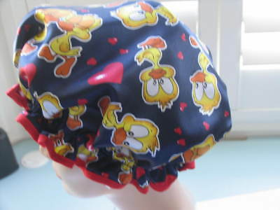 QUALITY SHOWER CAP NAVY WITH TWEETIE BIRDS   water proof  HOW CUTE IS THIS