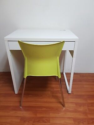 white IKEA desk with modern chair (2 sets available ) buy 1 or buy both