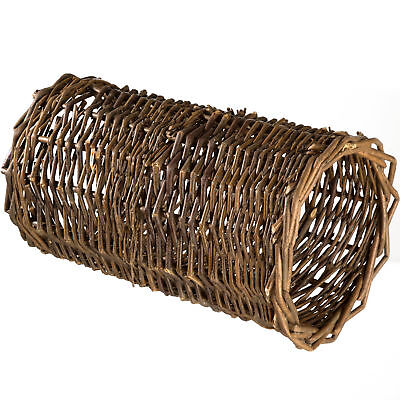Willow tunnel small animals pet guinea pig wicker hideaway cave diameter 22cm