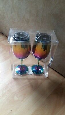 iridescent wine glass