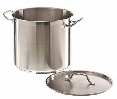 20 Qt Professional Stainless Steel Stock Pot w/Cover Pots Kitchen Cookware