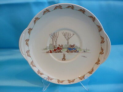 "Rare 1937-40 Royal Doulton Bunnykins Bread & Butter ""Tug of War"" Signed"