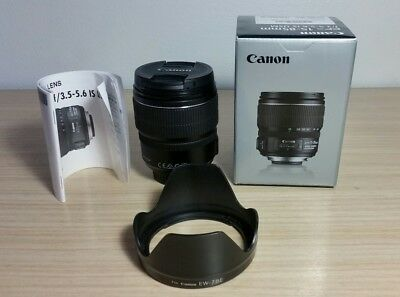 Canon ef-s 15-85mm f/3.5-5.6 IS USM lens like new