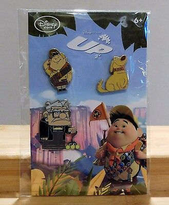 RUSSELL DUG CARL Up DVD/Blu-Ray Release Disney Store.com Pre-Order 3 Pin Set NEW