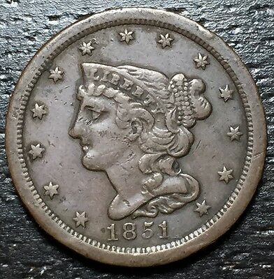 1851 Braided Hair Half Cent  C1  --  MAKE US AN OFFER!  #W3435 ZXCV