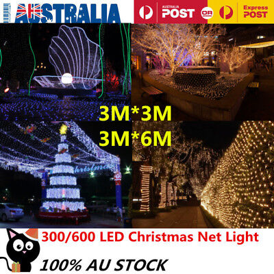 3M*3M/ 3M*6M LED String Fairy Lights Net Mesh Curtain Xmas Wedding Party Outdoor
