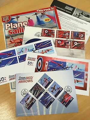 CC ~ Collectable Stamp Cover ~ RAF ~ Red Arrows ~ Joblot ~ Jersey ~ 50th Display