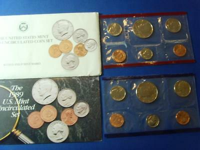 1989 Usa Uncirculated Coin Set Denver Philadelphia United States Of America