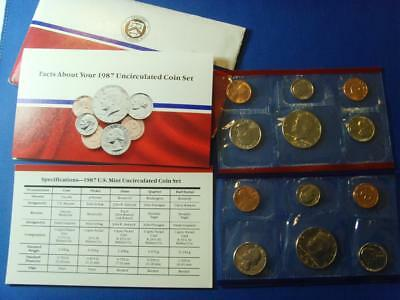 1987 Usa Uncirculated Coin Set Denver Philadelphia United States Of America