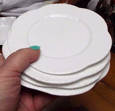 "Shelley Dainty White 4 X Round 6""  Tea / Side Plates"