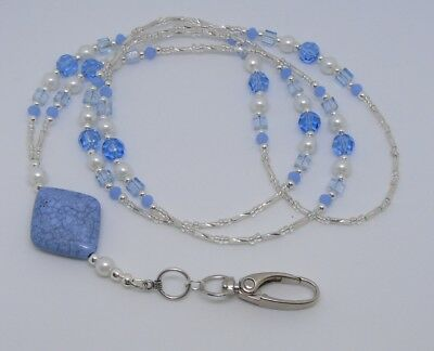 Beaded  Lanyard For ID Badge / Pass, Card Holder Necklace.