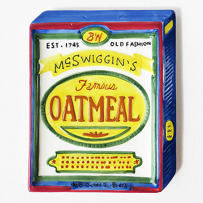 McSwiggin's Famous Oatmeal Advertising Ceramic Novelty Display Plate 1998 Boston