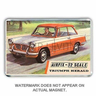 Retro -Airfix Model Kit- Triumph Herald Box Art Jumbo Fridge / Locker Magnet