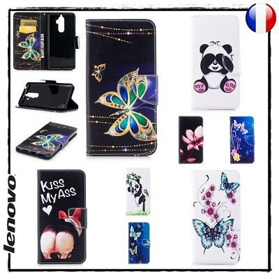 Etui porte cartes coque housse Cuir PU Leather Wallet case cover Lenovo K8 Note