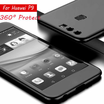 360° Full Hybrid Tempered Glass+Hard Case Cover For Huawei P8 P9 Lite P10 Plus