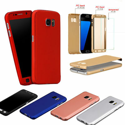 360° Full Hybrid Tempered Glass + Acrylic Hard Case Cover For Samsung Galaxy All
