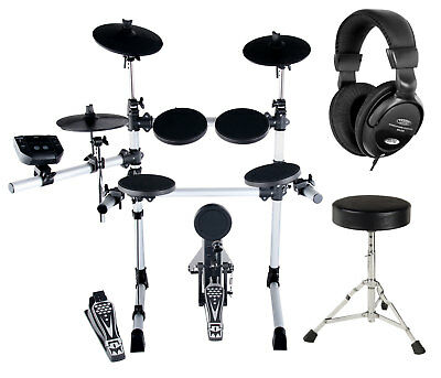 Kit de Batterie Electronique E-Drum Percussion Drum Set 108 Voix Tabouret Casque