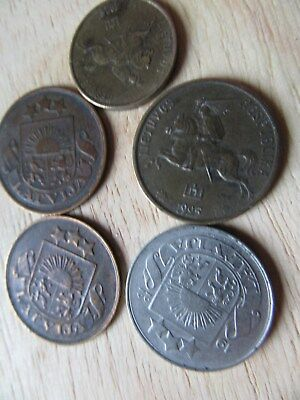 1920`s baltic states coins better grade