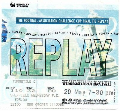 F.a.cup Final Replay Ticket  1992-93