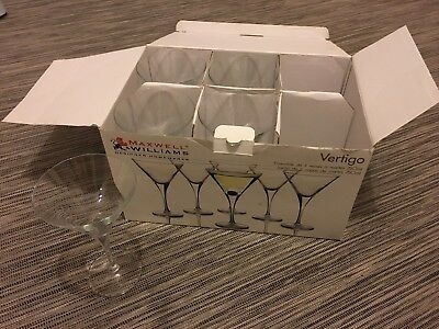 Maxwell williams Martini 250ml Glasses x 5