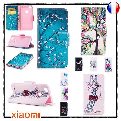 Etui porte cartes coque housse Cuir PU Leather case cover Xiaomi Redmi Note 5A