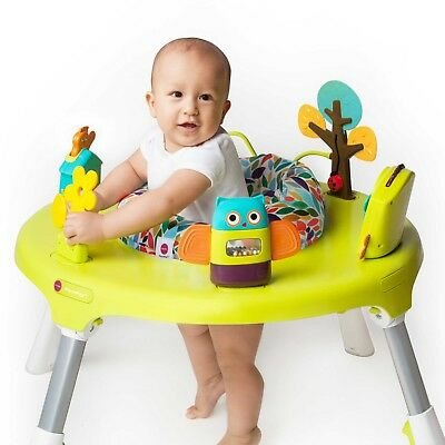 Oribel PortaPlay Forest Friends 4-in-1 Foldable Baby Activity Center Bounce Play