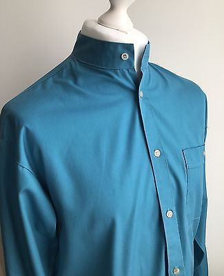 """Men's Vintage 60's/70s Turquoise Tunic Shirt Kaftan 42"""" Chest Psychedelic Mod"""
