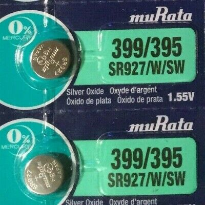 2 New SONY SR927SW Silver Oxide 1.55v Watch Batteries MADE in JAPAN Aussie Stock