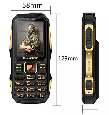 Military cellphones 2.6 inch flashlight old man loud voice phones simple phones