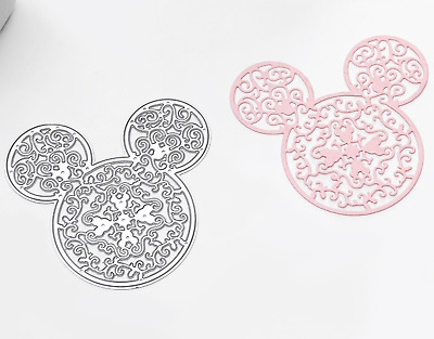 lace Mickey Mouse metal cutting die scrapbooking card making DIY