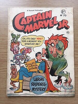 Captain Marvel JR. #73 1950's published by L Miller. Young Miracleman Interest.