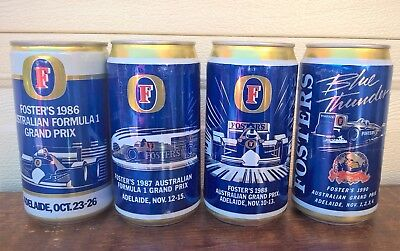 Fosters Full Beer Cans AUSTRALIAN GRAND PRIX – Brewery, Auto, Cars, Sports