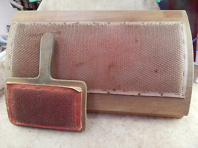 Wool Carding Board Paddle Comb Set