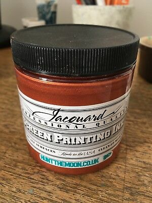 Jacquard Screen printing Ink Copper Used Once 240ml water based