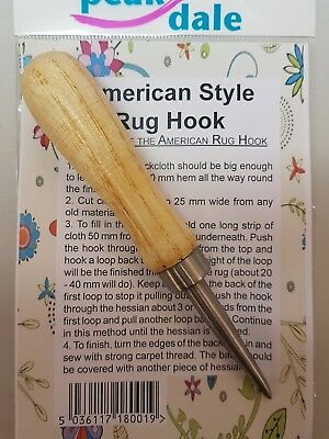 Peak Dale American Style Rug Hook with Instructions