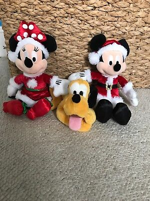 disney christmas bundle. micky, minnie and pluto.