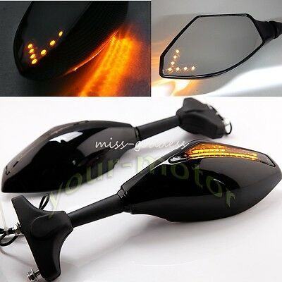 Motorcycle LED Turn Signal Mirror For Honda CBR 600 F4i 929 954RR F1 F2 Hurrican