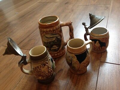 Attic Find X4 Vintage Stein Mugs King Ect 👌