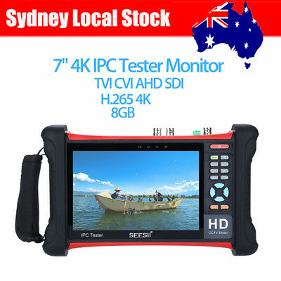 "7"" 4K IPC Camera Tester Monitor 8GB Analog Video Touch Screen HDMI Wifi PTZ NEW"