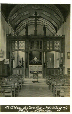 1920s postcard St Alban the Martyr church interior WESTCLIFF-on-SEA Essex