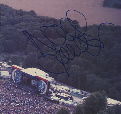 Oasis - Noel Gallagher - In Person Signed Colour Picture Loch Lomond 1996 Gig.