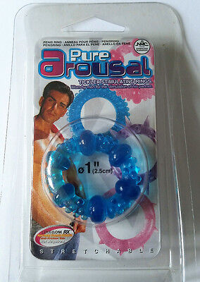 STRETCH PENIS RING ERECTION ENHANCER Stimulating  Pure Arousal DELAY EJACULATION