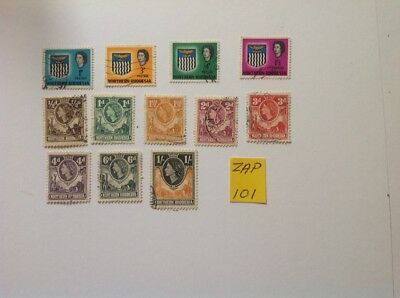 northern rhodesia qe 11 used x 12 stamps