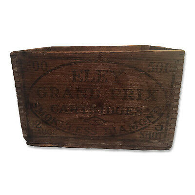 Old Eley Wooden Ammunition Box