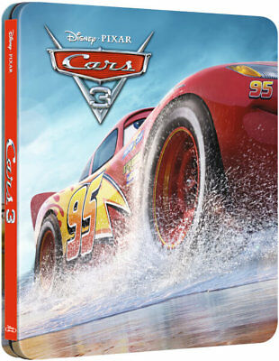 Cars 3 3D - Limited Edition Disney Steelbook (Blu-ray 2D/3D) NEW!! PRE-ORDER!!