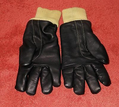 New Blazemaster (Uk) Nsw Fire Brigades Fire Resistant Leather Gloves~ Size 8