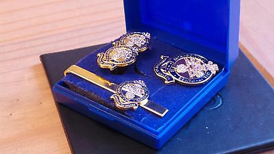 Pwrr Princess Of Wales's Royal Regiment ( ) Cuff Link And Tie Grip / Clip Set