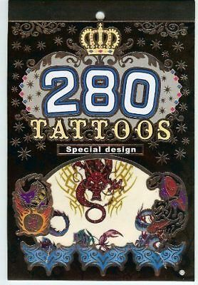 Tattoo Book: 280 Special Design Tattoos From flowers, dragons, animals and more